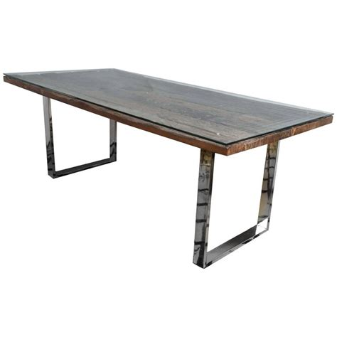 barn wood tables for rustic modern chrome and reclaimed barn wood fabulous
