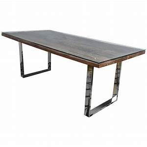 rustic modern chrome and reclaimed barn wood fabulous With barn wood dinner table