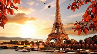 Paris France Tower Eiffel Autumn Fall Background