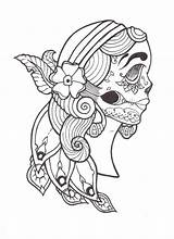 Gypsy Coloring Tattoo Deviantart Pages Dead Template Deviant Templates Th sketch template