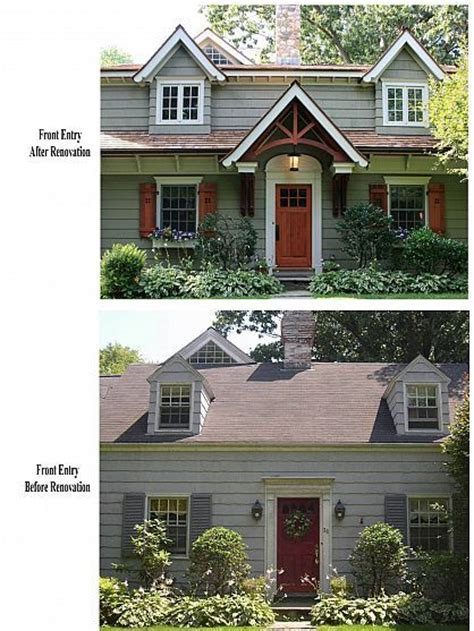 cape cod renovated into craftsman style home exterior