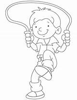 Coloring Pages Rope Jump Skipping Bobby Colouring Jumping Sports Skills Getdrawings Template sketch template