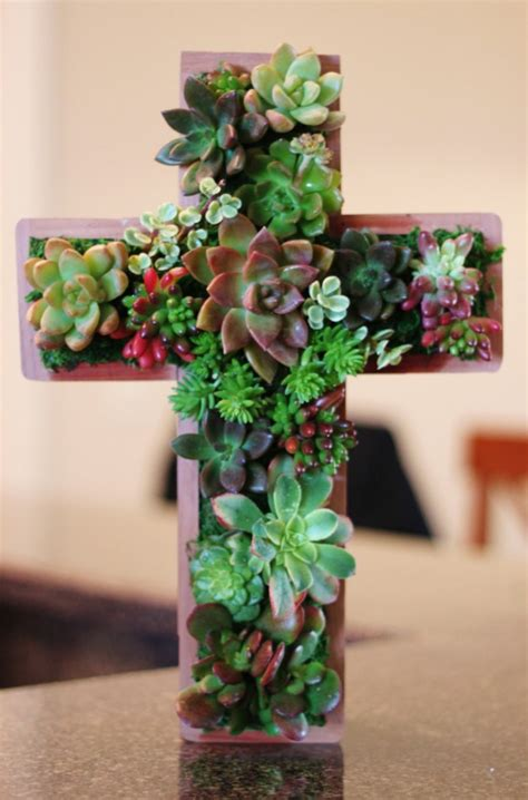 lively handmade succulent spring decorations