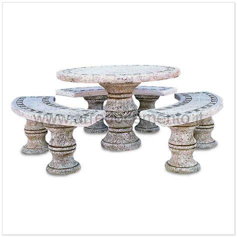 panchine moderne tavoli in pietra da esterno formentera con 3 panche