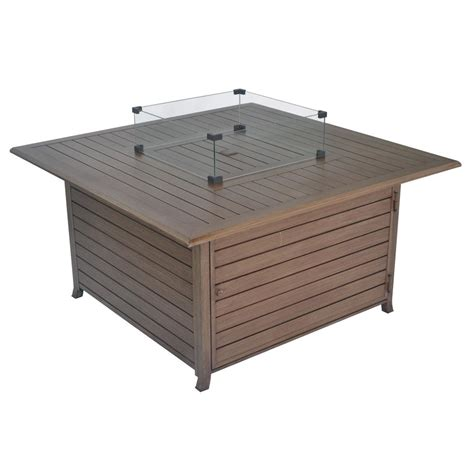 Gas Pit Table With Lid by Legacy Heating 45 In 50 000 Btu Square Aluminum