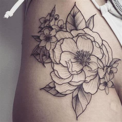 flower hip tattoos ideas  pinterest hip