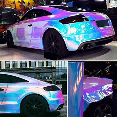 hoho holographic rainbow neo chrome car vinyl wrap bubble