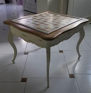 Table Basse D Appoint : table basse table d appoint en merisier patin e anjoudeco ~ Teatrodelosmanantiales.com Idées de Décoration