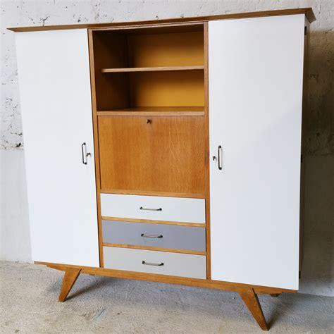 armoire vintage chambre grande armoire secrétaire multifonctionnelle vintage