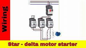 Motor Starter Diagram  Start Stop 3 Wire Control  Starting