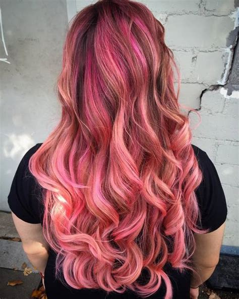 With Pink Highlights Hairstyles by 40 Best Pink Highlights Ideas For 2019