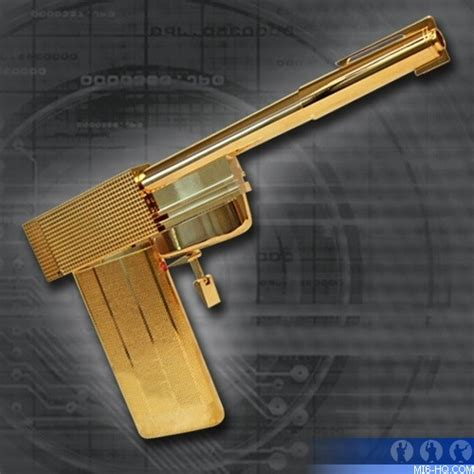golden gun prop replica collecting mi  home