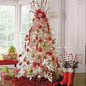 Sapin Noel Blanc : bien sapin de noel decoration blanc 12 d233corations de no235l 224 lam233ricaine 57 id233es ~ Preciouscoupons.com Idées de Décoration