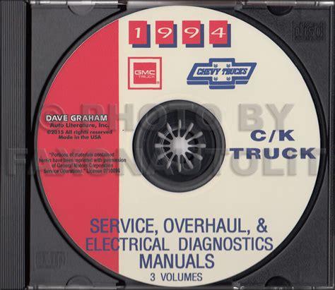 book repair manual 1998 gmc jimmy parental controls 1994 chevy ck truck shop manuals on cd cheyenne silverado pickup blazer suburban ebay