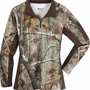Rocky Women 39 S Silenthunter 1 4 Zip Camo Shirt 602435