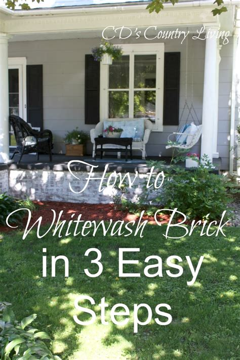 better homes and gardens white wash floor l how to whitewash exterior brick in 3 easy steps