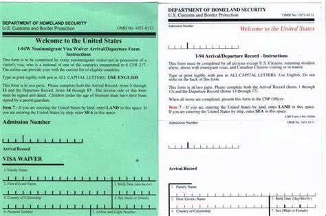 Ingresso Negli Usa - nuove regole per visitare gli stati uniti addio modulo i 94