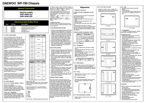 Daewoo Chassis Cm-800s Cm801s Dta21a8mzf Service Manual