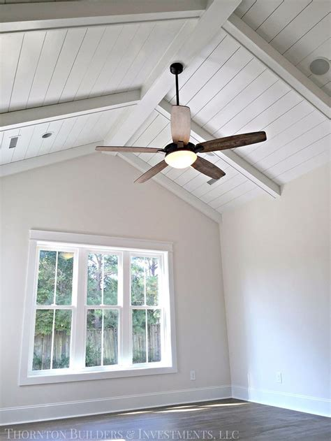 ceiling fans for vaulted ceilings thornton builders design pinterest plank ceiling