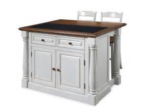 white kitchen island with top home styles monarch granite top kitchen island with two stools 5021 948