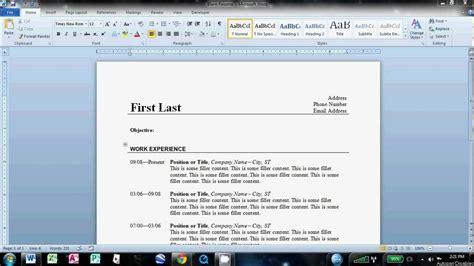 resume templates word unique