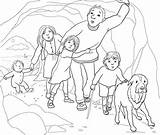 Bear Hunt Coloring Cave Going Pages Colouring Gloomy Narrow Re Printable Supercoloring Crafts Were Teddy Printables Google Caves Bed Berenjacht sketch template