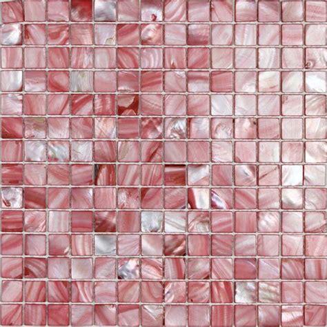pink glass tile shell tiles 100 pink seashell mosaic of pearl