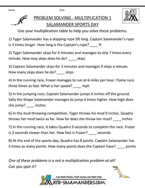 multiplication word problems multiplication 1 salamander