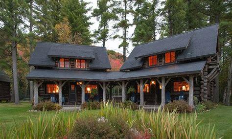 single story log cabin homes single story luxury mountain