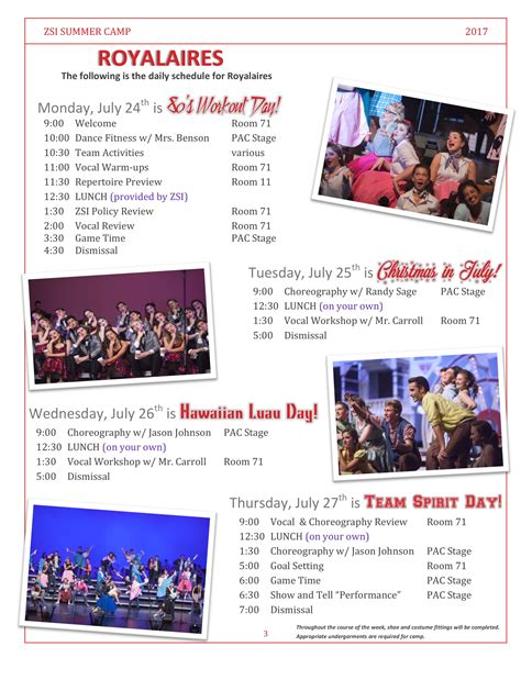 zsi summer flyer zionsville showchoirs