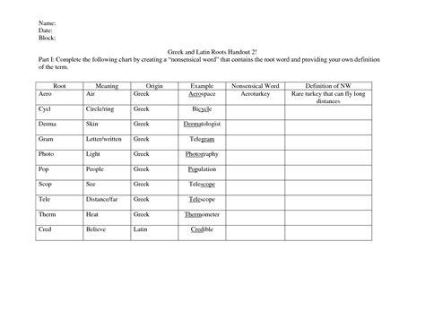 16 Best Images Of Greek Words Worksheets  Greek And Latin Root Words Worksheets, Greek And