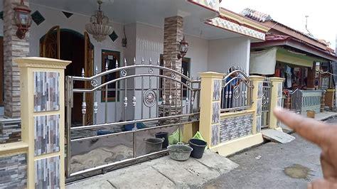 pagar besi stainless steel desain rumah idaman modern
