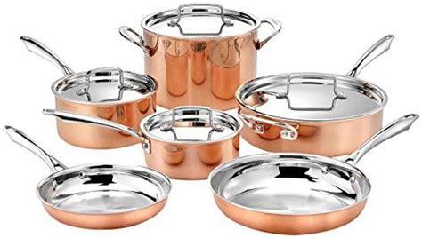 cuisinart pc tri ply cooper cookware set qt  coverqt  coverqr saute  cover