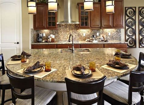 This kitchen provides room for seating while allowing the