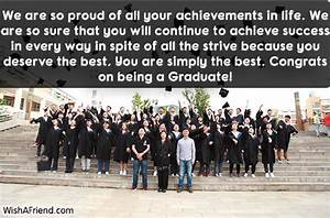 We are so proud of all, Graduation Message From Parents