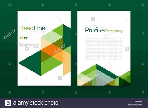 Color business brochure cover template annual report