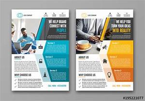 Business Flyer Layout With Geometric Sidebar 1  Buy This