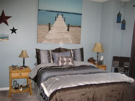 themed decor for bedroom bedroom floating shelves and beachy wall painting feat