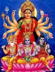 Lord Brahma Vishnu Mahesh with Goddess Durga | Durga ...