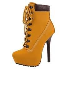 High Heel Timberland Boots