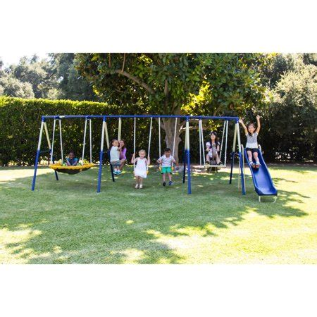 Swing And Slide Swing by Sportspower Outdoor 8 Metal Swing And Slide Set
