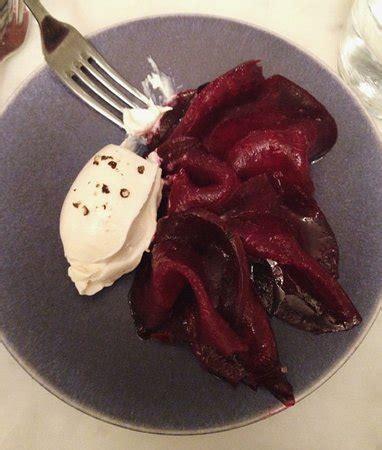 betterave hareng fumé crème crue picture of le dauphin