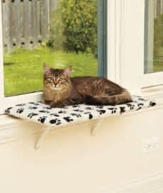 cat window seat paw print fleece pet cat window perch shelf bench seat 24