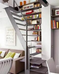Etagere Escalier Bois : etagere escalier bois maison design ~ Teatrodelosmanantiales.com Idées de Décoration