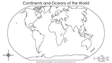 continents of the world worksheets this basic world map
