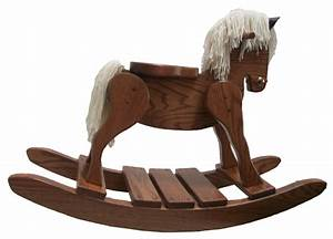 Amish Handcrafted SOLID Oak Hobby Rocking Horse Amish