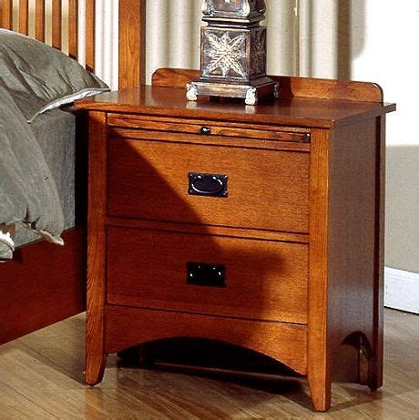 Mission Style Nightstand Plans by Mission Craftsman Oak 2 Drawer Nightstand Nightstands