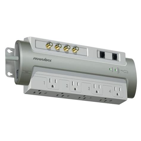 panamax surge protector panamax pm8 av 8 outlet cable sat telephone silver 1407