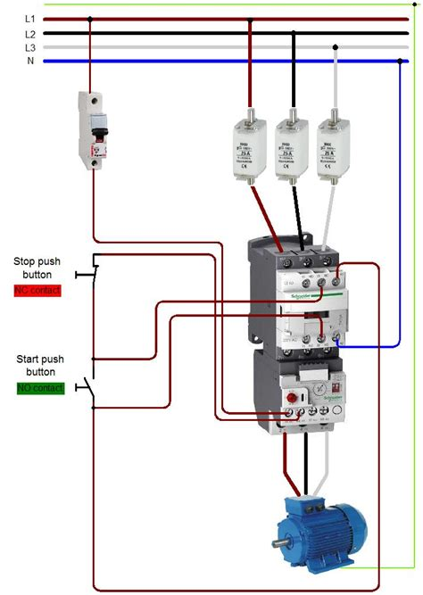 wiring diagram for contactor and images diagram