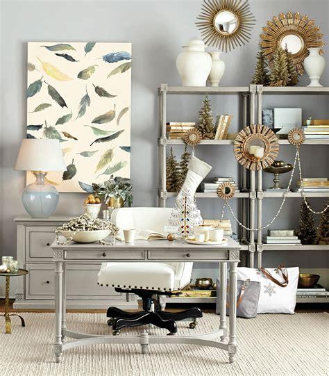 stylish home office christmas decoration ideas
